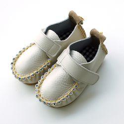 벨크로 크림옐로우 아기 신발 구두 아동화