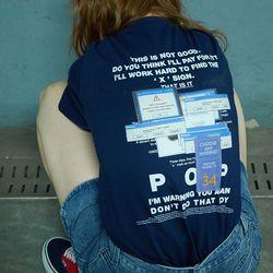 백 프린팅 시리즈 티셔츠 POP