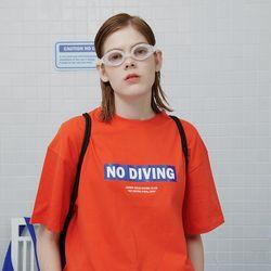 No diving tshirt-orange