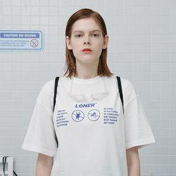 No jumping tshirt-white