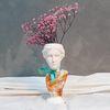 플라워 냅킨아트 석고상화분 프리저브드+모스+리본