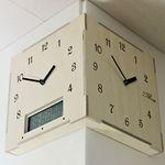 (ktk103)저소음 코너벽시계 with 캘린더 & 온도