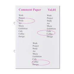 Comment Paper-Pink