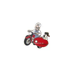 [Mybutton][정품]월레스와 그로밋(Motorbike).핀뱃지