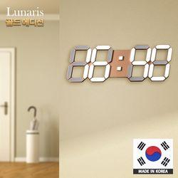 정품 국산 루나리스 골드 에디션 LED 벽시계 38cm