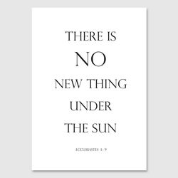 there is no new thing  - A4 포스터