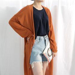 Soft long cardigan2