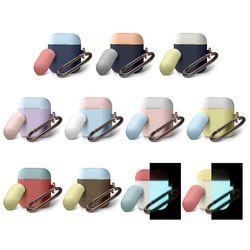 에어팟 듀오 고리형 행 케이스 [9 color]  (1세대&2세대)
