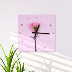 cg447-분홍카네이션인테리어벽시계