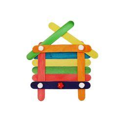 DIY유치원만들기 집모양 액자 만들기 어린이집만들기재료