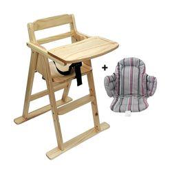 내츄럴 유아용 식탁의자와 쿠션세트
