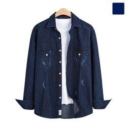 디스트로이드 투 포켓 데님 셔츠 SHT272