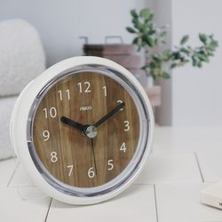 우드패턴욕실방수흡착시계(2COLOR)