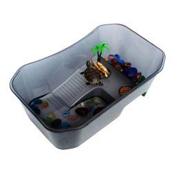 노모펫 NOMOYPET 개방식 거북이 어항(대) 블랙  NX-11거북이전용
