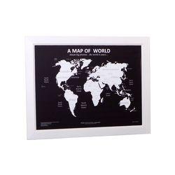 우드프레임 인테리어 세계지도-화이트