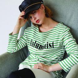 Columnist Stripe T - Green