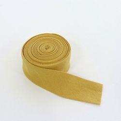 [Deco] 머스터드 옐로우 3.5cm 워싱 린넨 바이어스