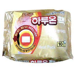 국내생산 하루종일 따뜻한 하루온 핫팩 1통(10팩)