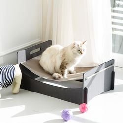 런메이크 모던 강아지 고양이해먹 침대