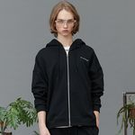RC zip-up heavy hoody (black)
