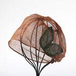 [더로라] 천연염색 린넨 패션 두건- 천모자 나뭇잎 NT8003
