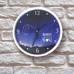 별자리 이니셜  무소음 아크릴벽시계