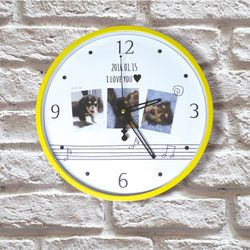 포토 이니셜 음표 무소음 아크릴벽시계