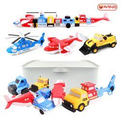 믹스&매치 자석블럭(콤보세트) 소방차-건설차-경찰차-중장비