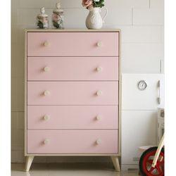 리오 러블리 5단서랍장 핑크