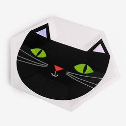 할로윈 홀로그램 고양이 파티접시 (8개)