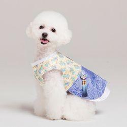 메종드독 강아지옷 애견 한복 블루로즈 쾌자