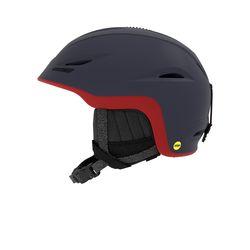 유니온 MIPS 아시안핏 보드스키 헬멧-MAT MIDNIGHT DK RED SIRA