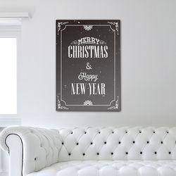 Merry christmas & happy new year - A3 포스터