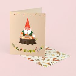 GNOMES BIRTHDAY CARD