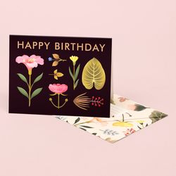 LUSH BOTANY BIRTHDAY CARD BLACK