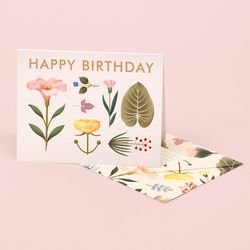 LUSH BOTANY BIRTHDAY CARD CREAM