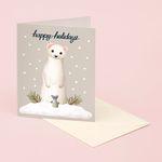 WEASEL HAPPY HOLIDAYS CHRISTMAS CARD