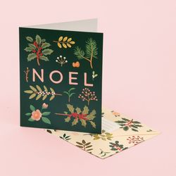 HOLIDAY PLANTS NOEL CARD DEEP GREEN
