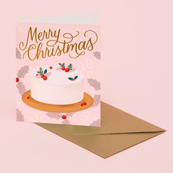 HOLIDAY DESSERT CARD PINK