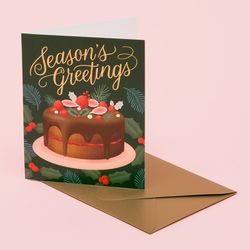 HOLIDAY DESSERT CARD DEEP GREEN