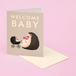 HEDGEHOG BABY CARD