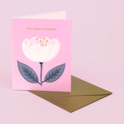 WHITE POPPY SYMPATHY CARD