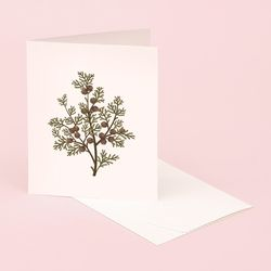 BOTANICAL SCENTED CARD HINOKI