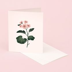 BOTANICAL SCENTED CARD GERANIUM