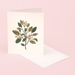 BOTANICAL SCENTED CARD SANDALWOOD