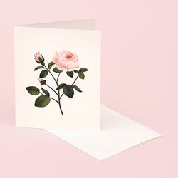 BOTANICAL SCENTED CARD ROSE