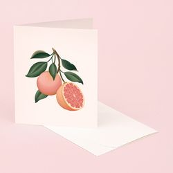 BOTANICAL SCENTED CARD GRAPEFRUIT