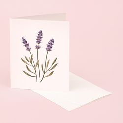 BOTANICAL SCENTED CARD LAVENDER