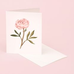 BOTANICAL SCENTED CARD PEONY