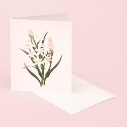 BOTANICAL SCENTED CARD TUBEROSE